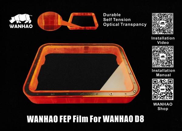 FEP Folie dick für Wanhao Duplicator 8